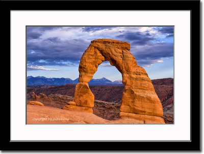 Delicate Arch Basking in Low Setting Sun