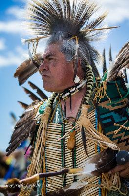 Portrait of a Native American Warrior