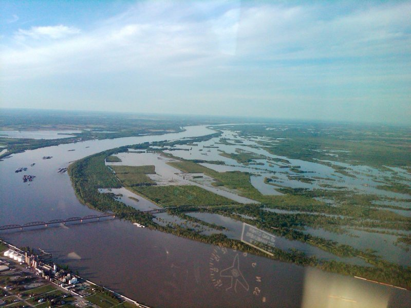 From Cairo-Looking up Ohio, Barlow bottoms to right-Taken by Larry Olsen