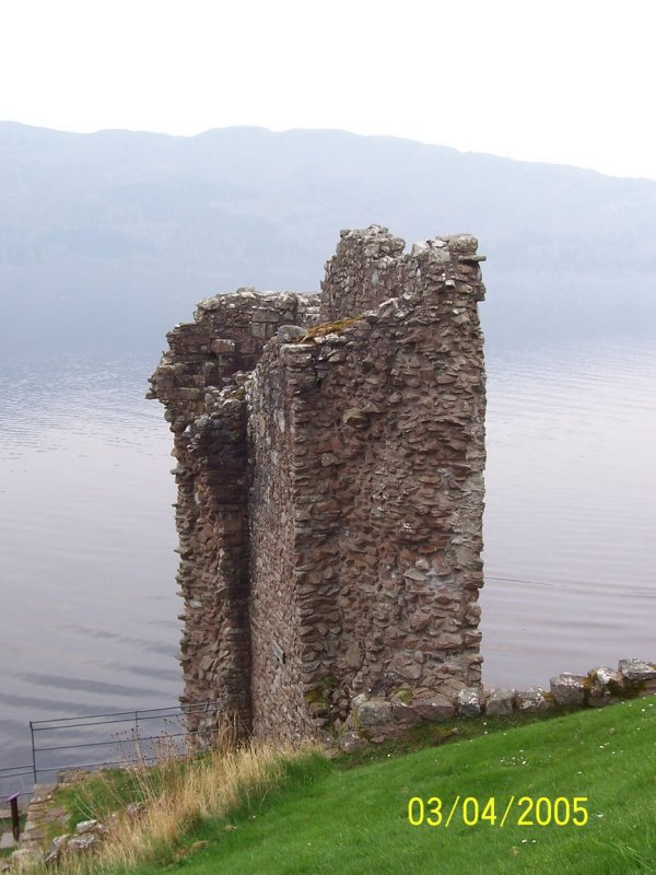 Lone tower in Castle Urquhart