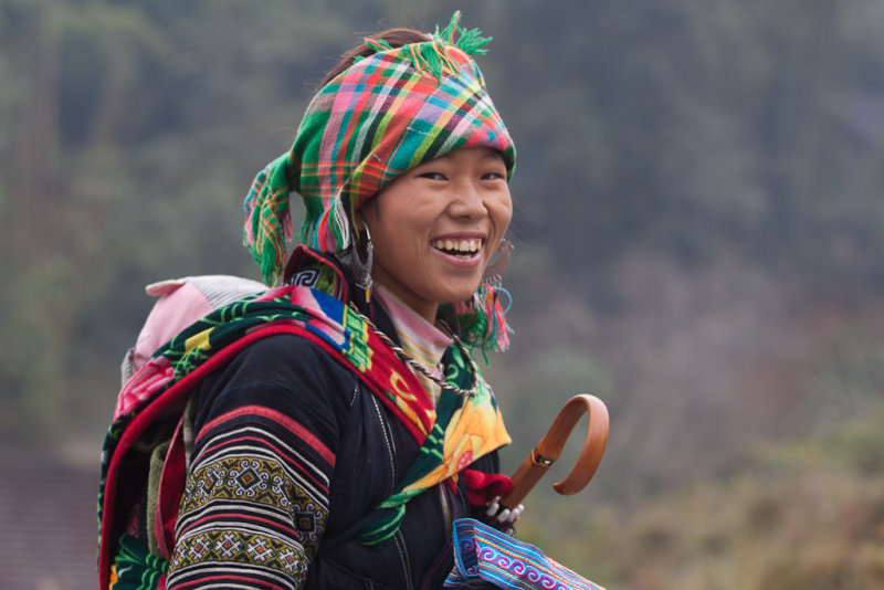 Black Hmong girl near Sa Pa