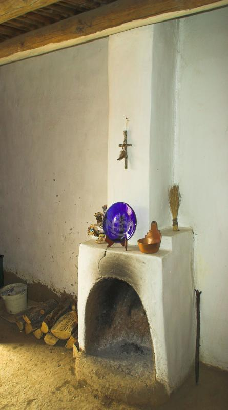 Fireplace in shop