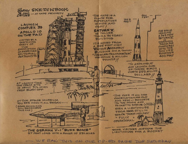 A page from Collinss sketch book