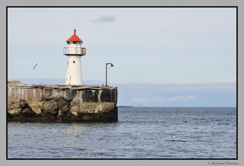 Vardø harbour lighthouse