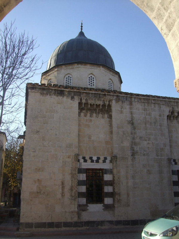 Part of the Ulu Cami or Grand Mosque in Old Adana.  Built in the 16th c it was heavily damaged by the 1998 earthquake.