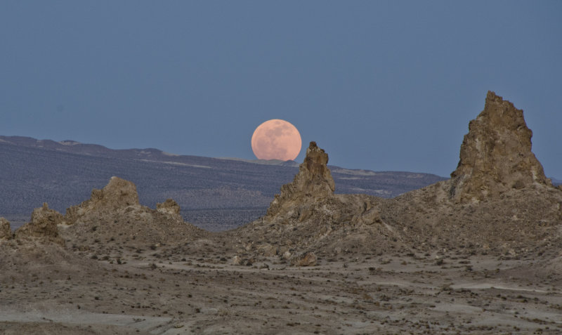 The Perigee Super Moon at the Pinnacles of Trona, CA