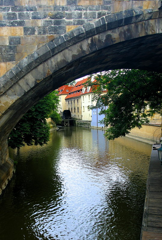 A quiet side stream in the Little Quarter