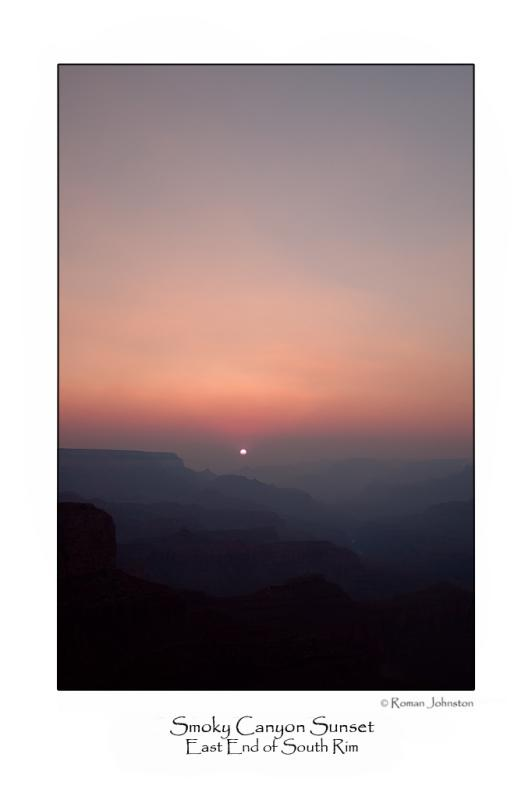 Smoky Grand Canyon Sunset.jpg  (Up To 30 x 45)