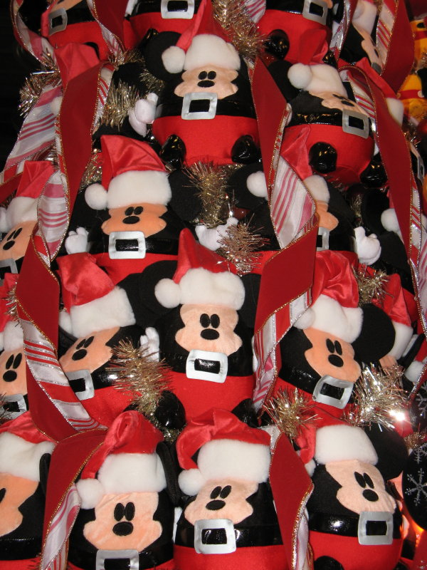 Santa Mickey Plush