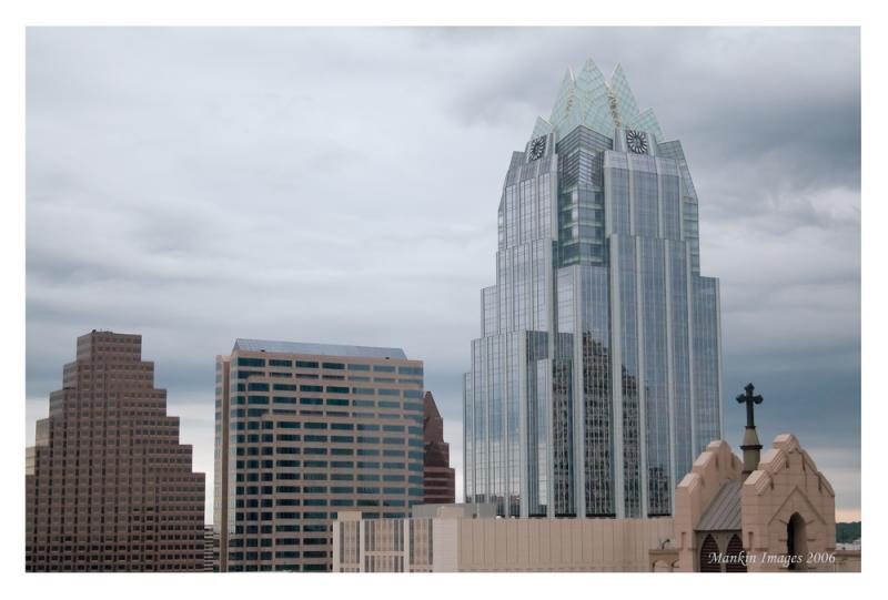Skyline w cross, Austin