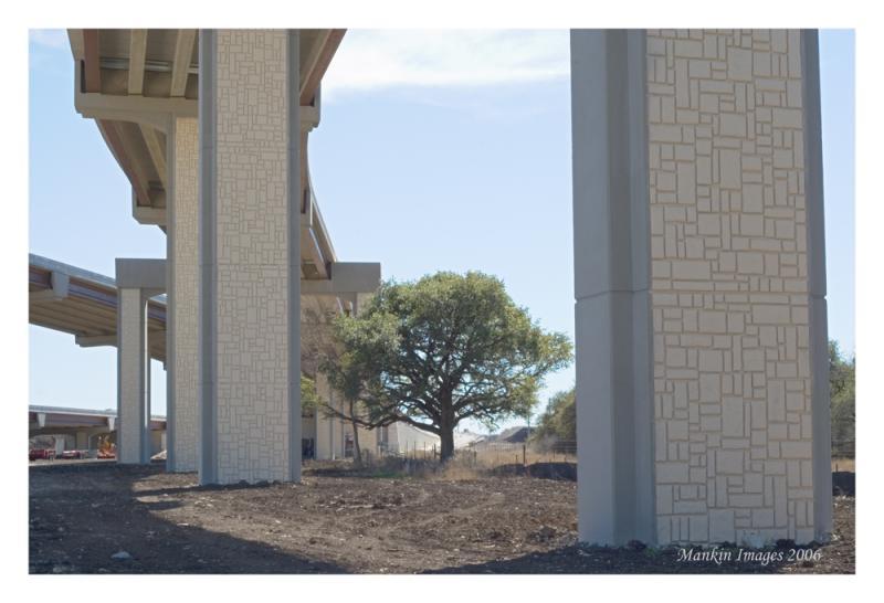 Skyway columns w oak, Round Rock