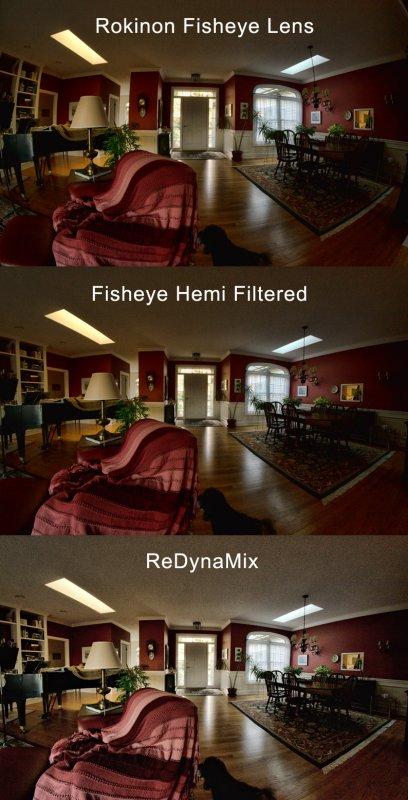 Progression of a Fisheye Lens Fix