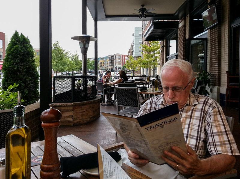 Bill and Menu at Travinia Restaurant