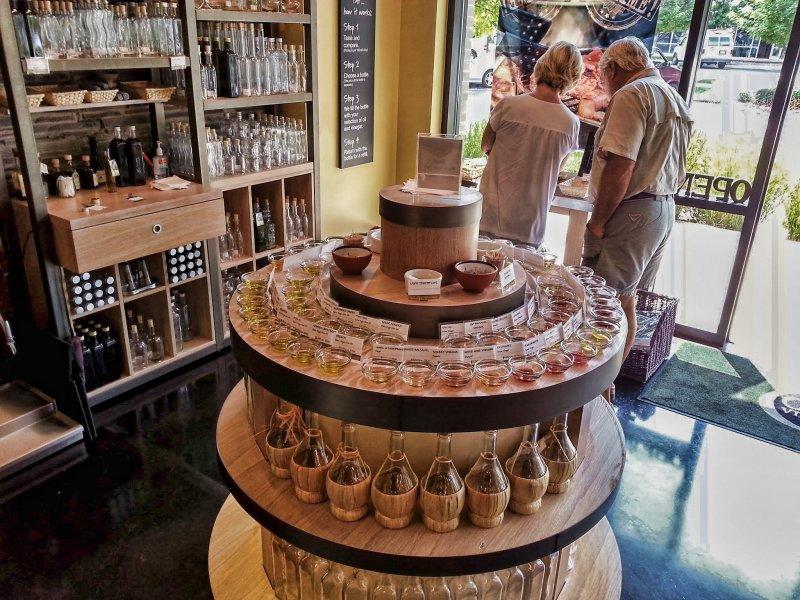 Olive Oil Sampler Display
