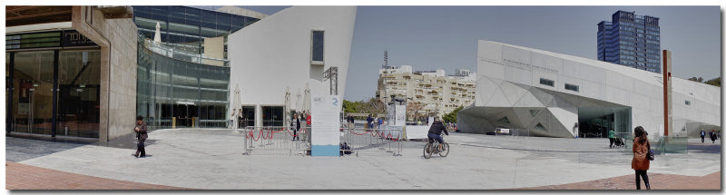 panorama of the Camerei Theatre and the Art Museum Modern Wing.jpg