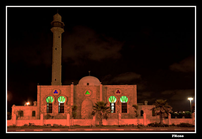 Restored Hassan Beck Mosque in Tel Aviv but once was the border of Jaffa