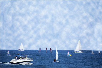 Saturday Sailing.in summer
