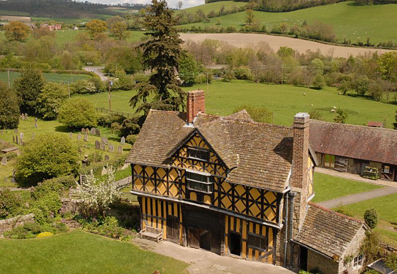 Elizabethan Gate house Stokesay Castle.