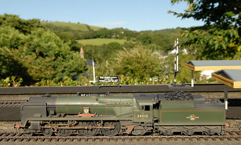 West Country Class locomotive -Sidmouth.