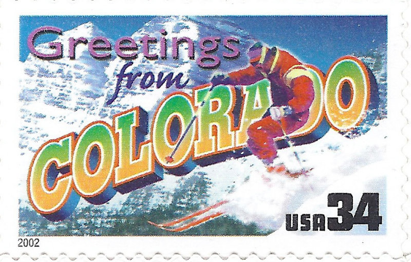 Greetings from Coloardo USA Postage Stamp