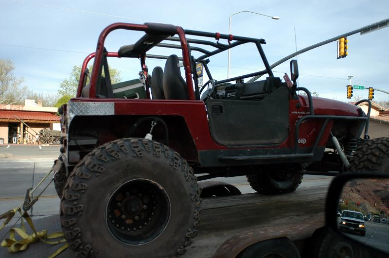 Jeep on trailer