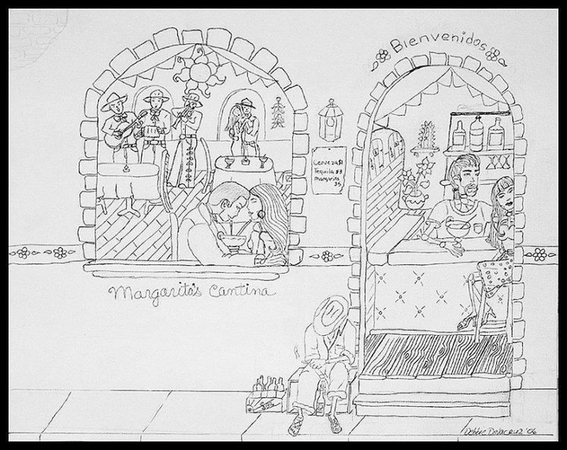 Margaritas Cantina (draft) hand drawn