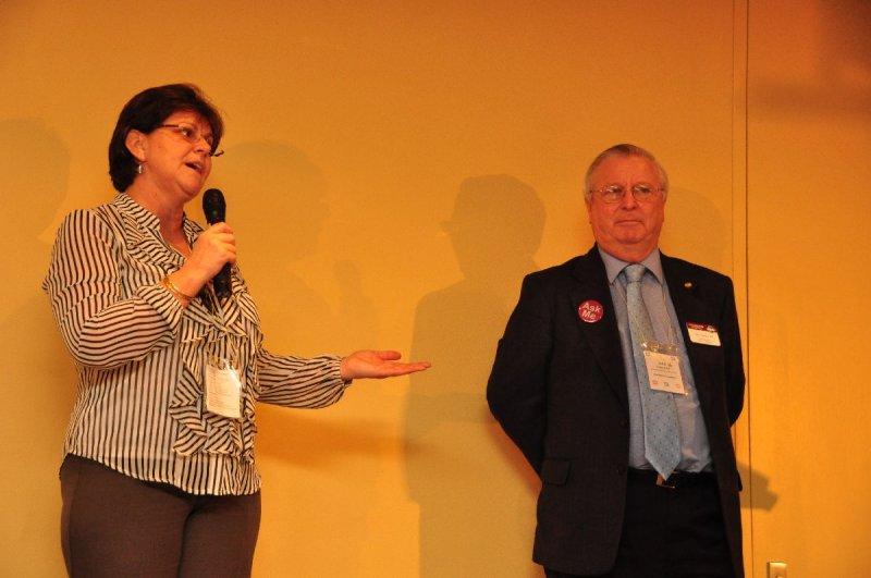 Special Presentation to Conference Co-Chair Rhonda Hookham DTM & John Taylor DTM