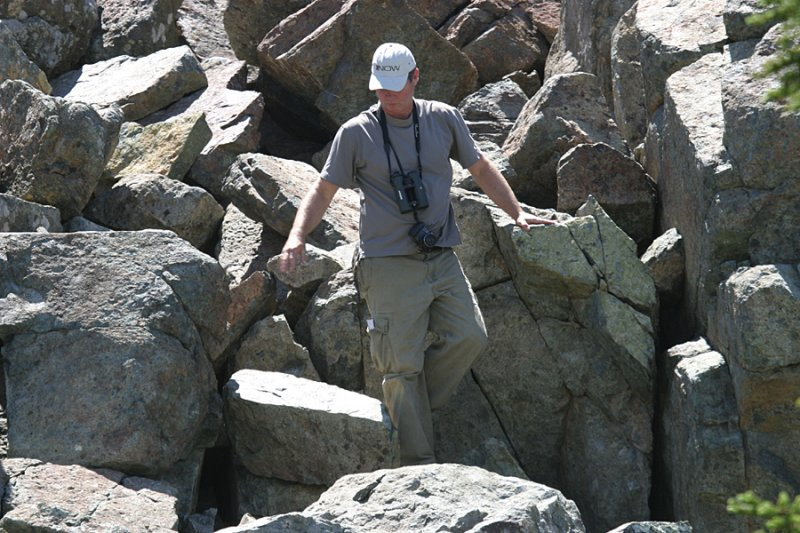 Bill B. making his way down the rocks.