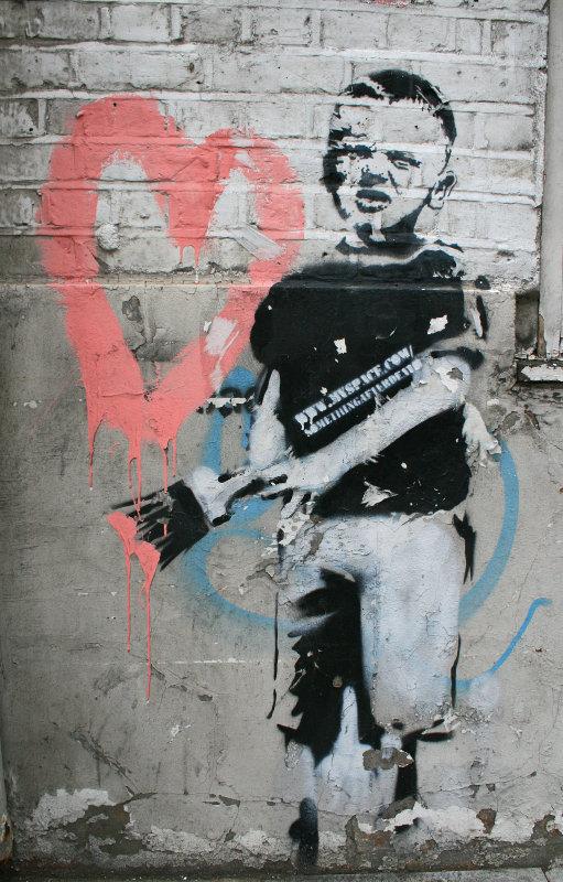 Banksy graffiti - London
