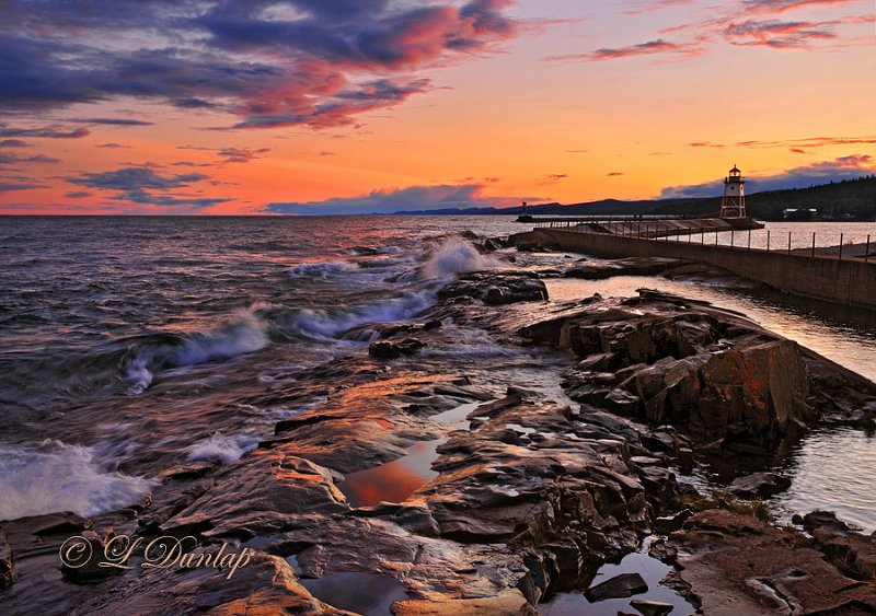 121 - Grand Marais: Lighthouse At Sunset, 1