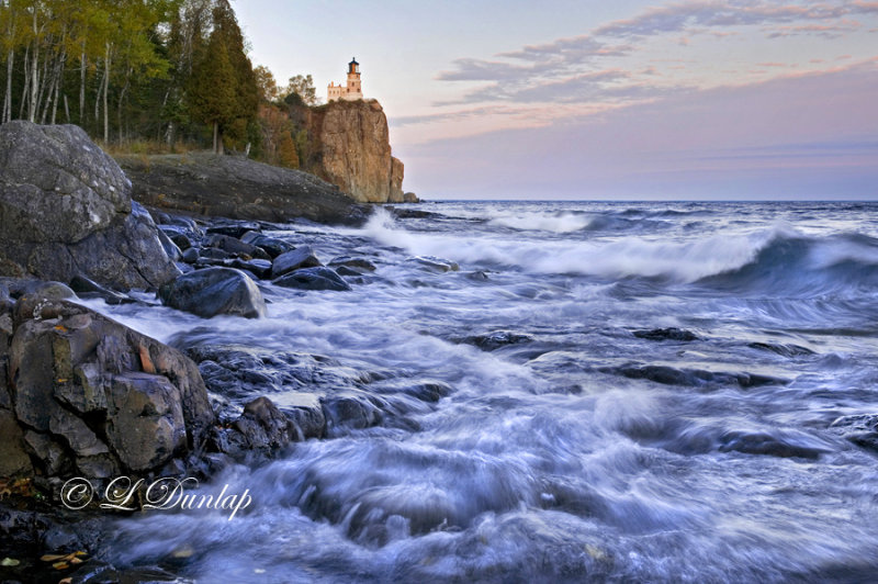 30.6 - Split Rock Lighthouse:  Evening Waves, Sept. 26th