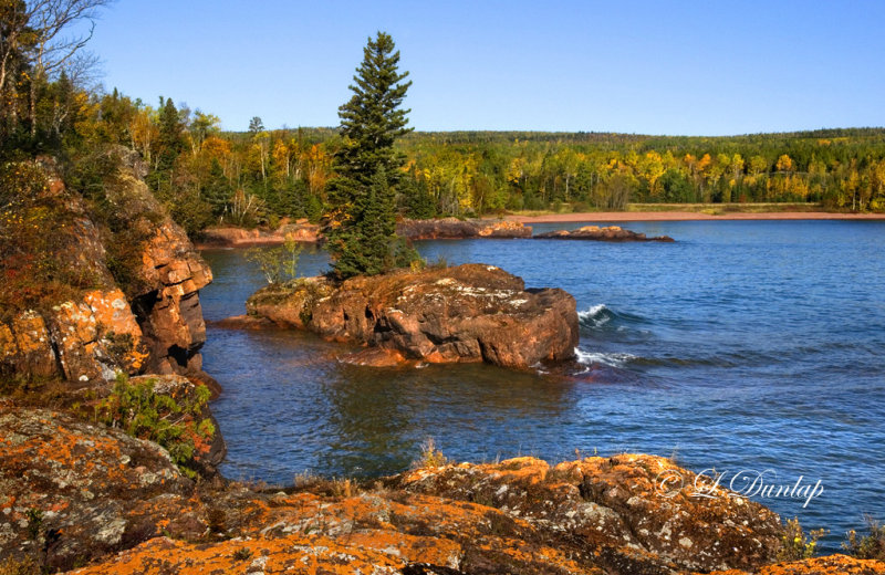 108.44 -  Grand Portage:  Red Rocks Island At Deronda Bay