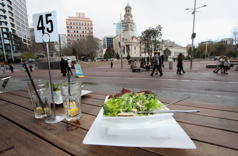 Healthly.. but not so yummy lunch... Aotea Square...