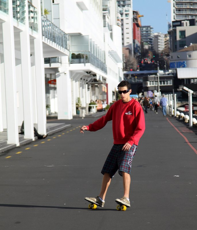 Takin a roll - Princes Wharf, Auckland City