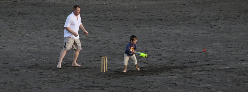 New Zealand Cricketer in the Making !