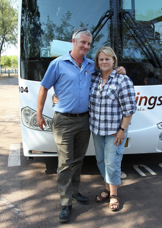 Danny and Dawn ( our KIWI coach driver)