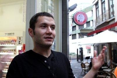 Handsome Turkish dude @ afternoon tea stop.