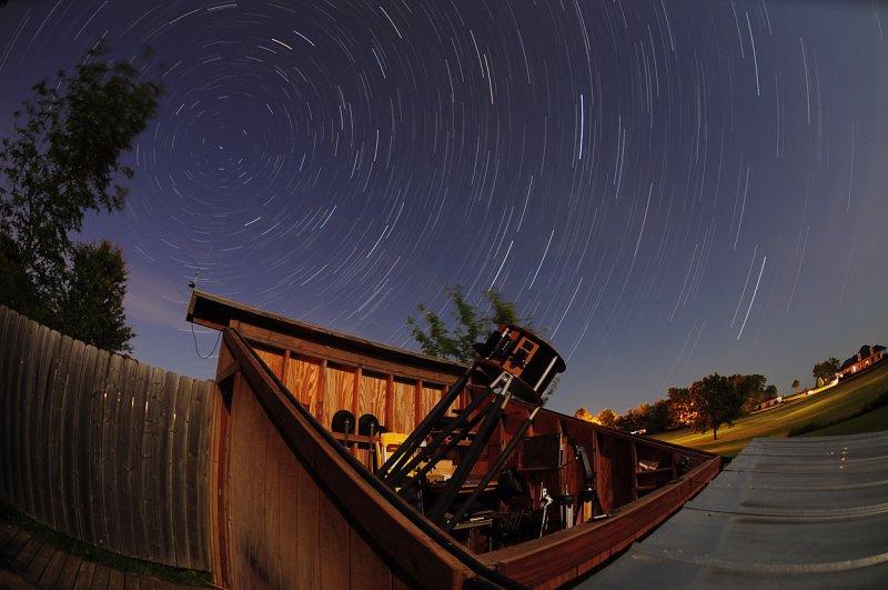 Star Trails over Observatory
