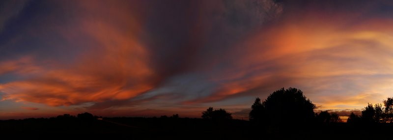 Sunset Colors in the East (Pano)