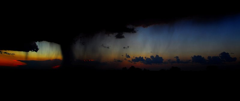 Backlit Rain Shafts (Panorama)