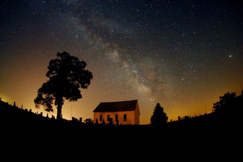 Milky Way & Old Brick Church (Retake)