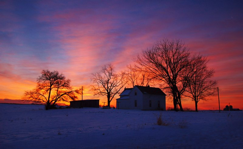 Country Home Sunrise