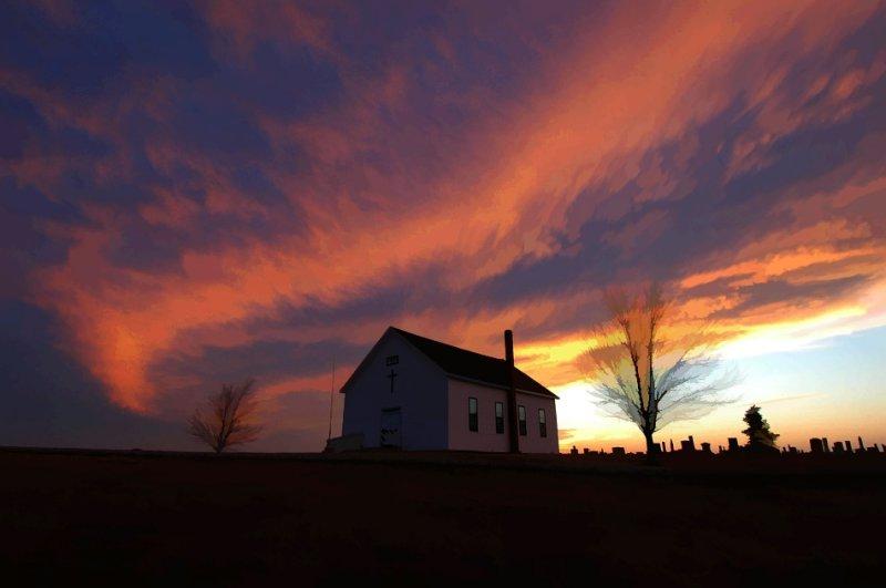 Fairview Church Sunset