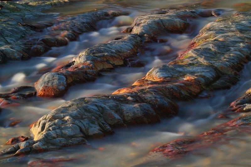 Mini landscape - gullies in shale