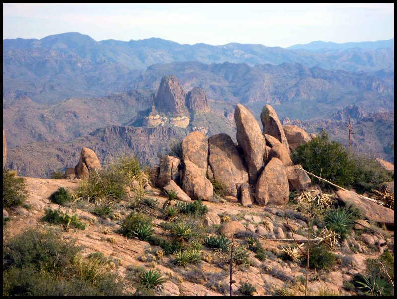 A View of Weavers Needle from the Summit