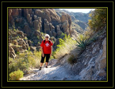 Debi on Peralta Trail