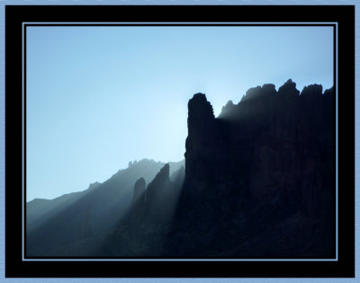 Superstition Mountain First Light
