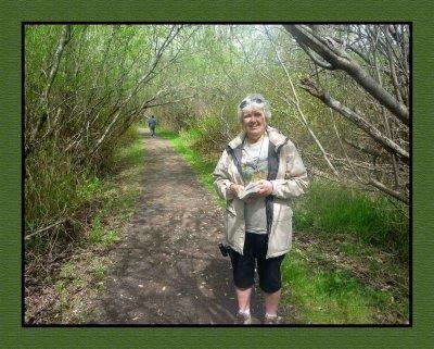 Debi at Rithet's Bog