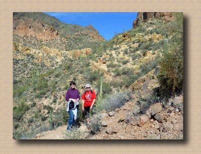 Jean &  Debi Nearing the Pass