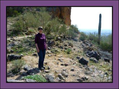 Jean on Pass Mountain Trail Summit